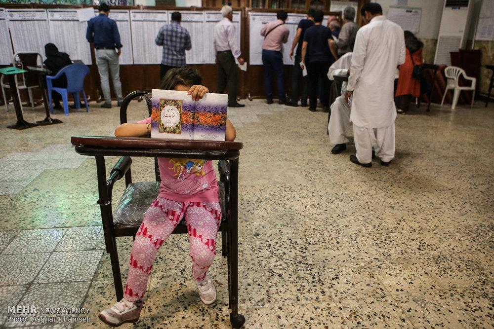 İranda seçkilər FOTOLARda